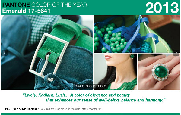 Color of The Year 2013 For Wedding as Its Colour of The Year